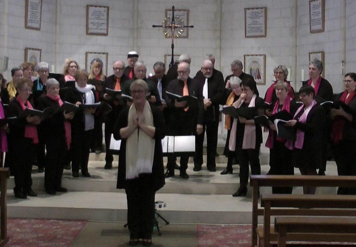 Concert pour le Téléthon à l'Eglise d'Ecueillé 2019 avec la Chorale la Clé des Chants